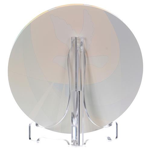 Bomboniera plexi cresima diametro 10 cm Centro Ave 2