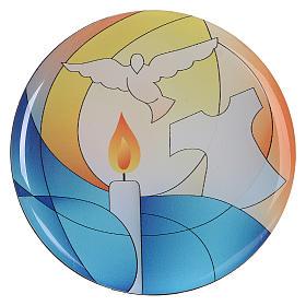 Cadeaux et souvenirs pour les occasions spéciales: Aimant baptême diamètre 7 cm Centre Ave