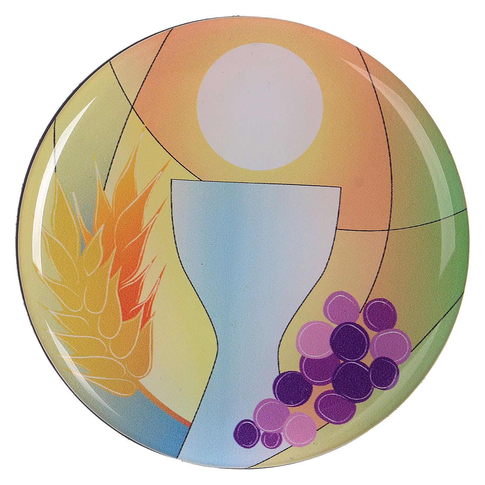 Aimant communion diamètre 7 cm Centre Ave 3