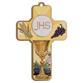 Souvenir Communion garçon/fille carte ITA et croix bois s2