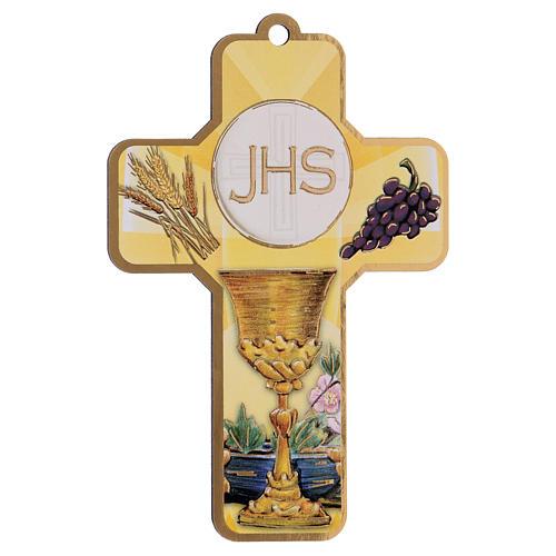 Souvenir Communion garçon/fille carte ITA et croix bois 2