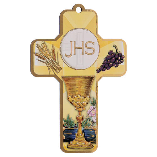 Holy Communion souvenir boy/girl card ITA and wood cross 2