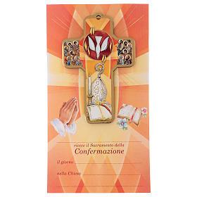 Ricordo dei sacramenti cresima ITALIANO 22x12 cm s1