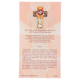 Recuerdo de los sacramentos confirmación INGLÉS 22x12 cm s3