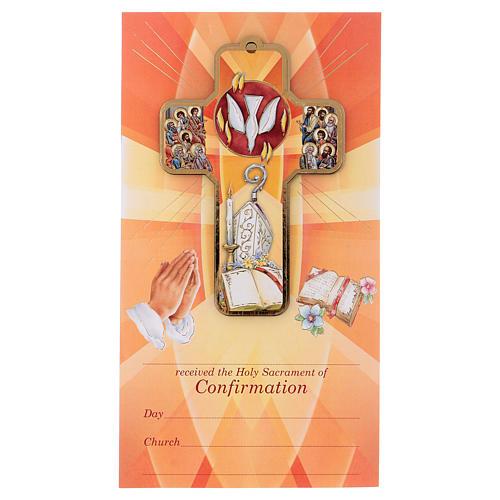 Recuerdo de los sacramentos confirmación INGLÉS 22x12 cm 1