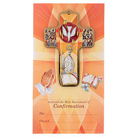Ricordo dei sacramenti cresima INGLESE 22x12 cm s1