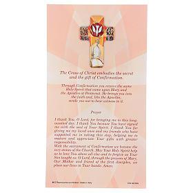 Ricordo dei sacramenti cresima INGLESE 22x12 cm s3