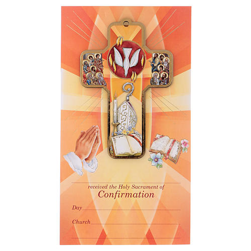 Ricordo dei sacramenti cresima INGLESE 22x12 cm 1