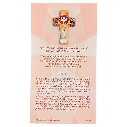 Ricordo dei sacramenti cresima INGLESE 22x12 cm 3
