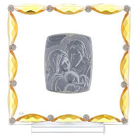 Cuadrito cristales transparentes bilaminado Sagrada Familia 20x15 s3