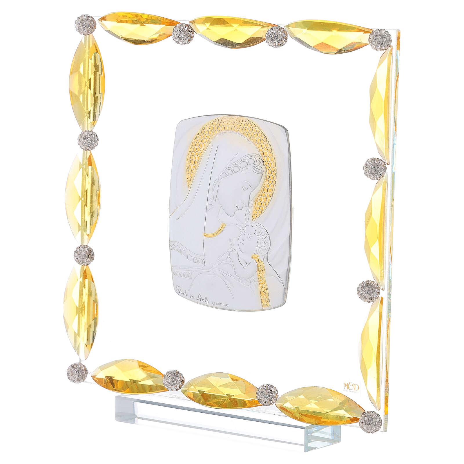 Cuadrito con cristales transparentes y bilaminado Maternidad 20x15 3