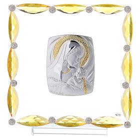 Cuadrito con cristales transparentes y bilaminado Maternidad 20x15 s1