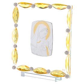 Cuadrito con cristales transparentes y bilaminado Maternidad 20x15 s2