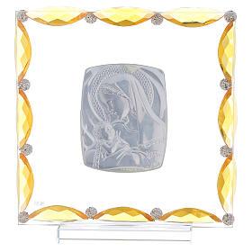 Cuadrito con cristales transparentes y bilaminado Maternidad 20x15 s3