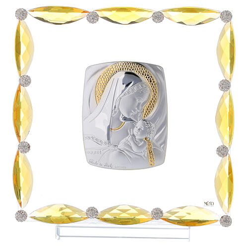 Cuadrito con cristales transparentes y bilaminado Maternidad 20x15 1