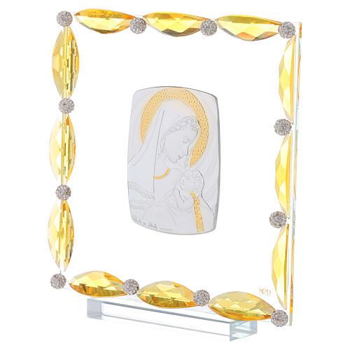 Cuadrito con cristales transparentes y bilaminado Maternidad 20x15 2