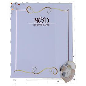 Portarretrato Sagrada Familia estilizada lámina de plata 25x20 s1