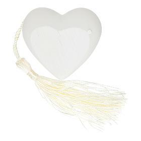 Recuerdo corazoncito Confirmación color plata 5 cm s2
