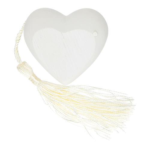 Bonbonnière coeur Confirmation couleur argent 5 cm 2