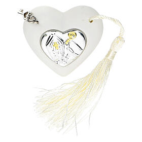 Heart Confirmation ornament silver-colored 2 in s1