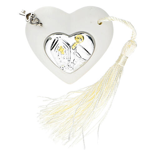 Heart Confirmation ornament silver-colored 2 in 1