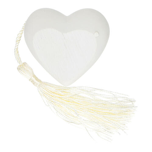 Heart Confirmation ornament silver-colored 2 in 2