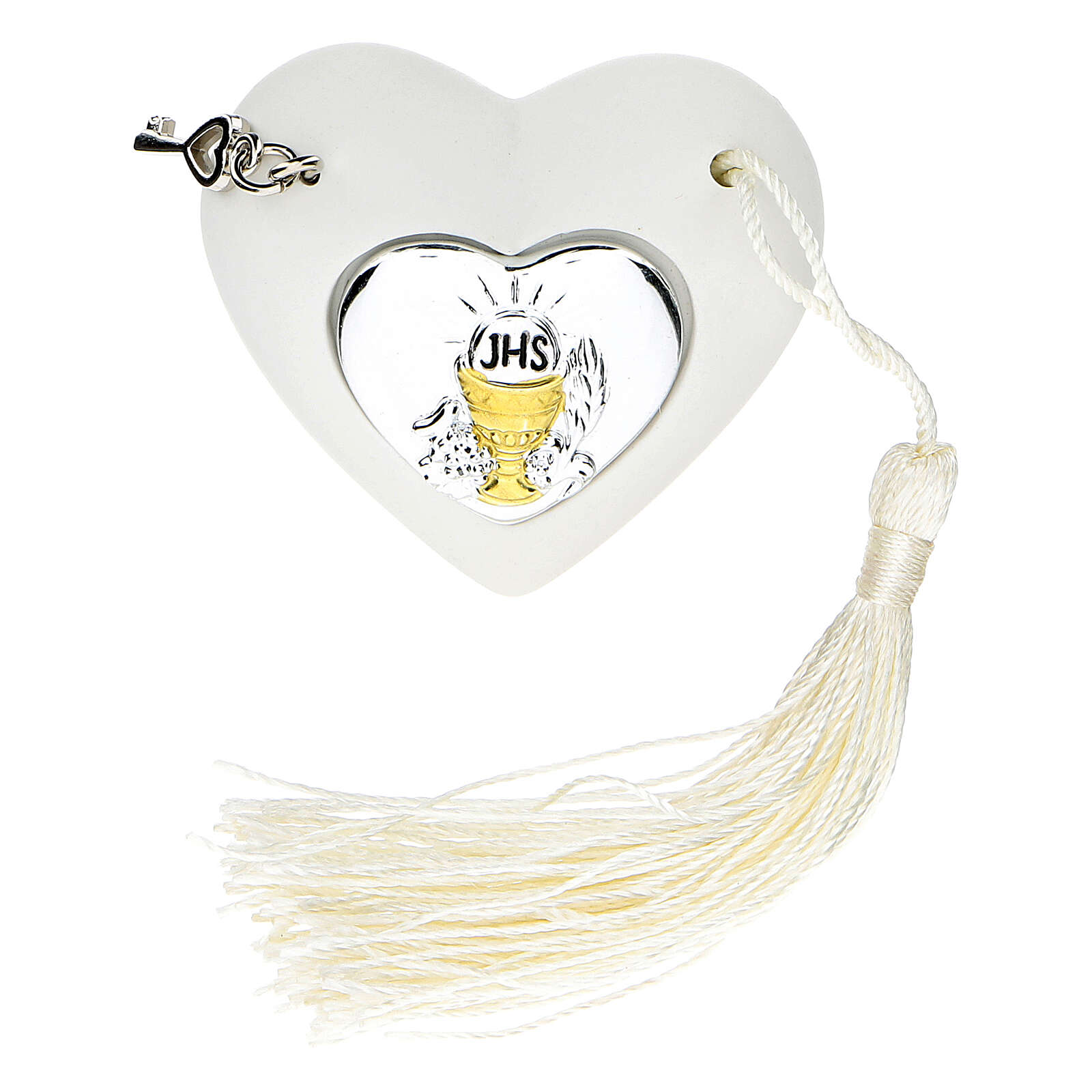 Heart Holy Communion ornament silver-colored 2 in 3