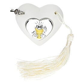 Heart Holy Communion ornament silver-colored 2 in s1