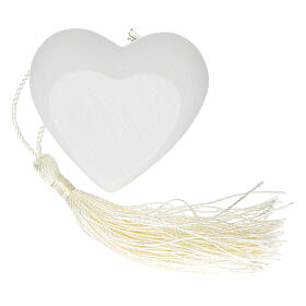 Heart Holy Communion ornament silver-colored 2 in s2