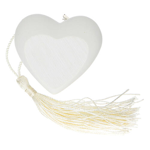 Heart Holy Communion ornament silver-colored 2 in 2