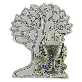 Ricordino Prima Comunione resina albero e calice 9 cm s1