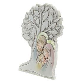 Icono con árbol y sagrada familia resina 9 cm s2