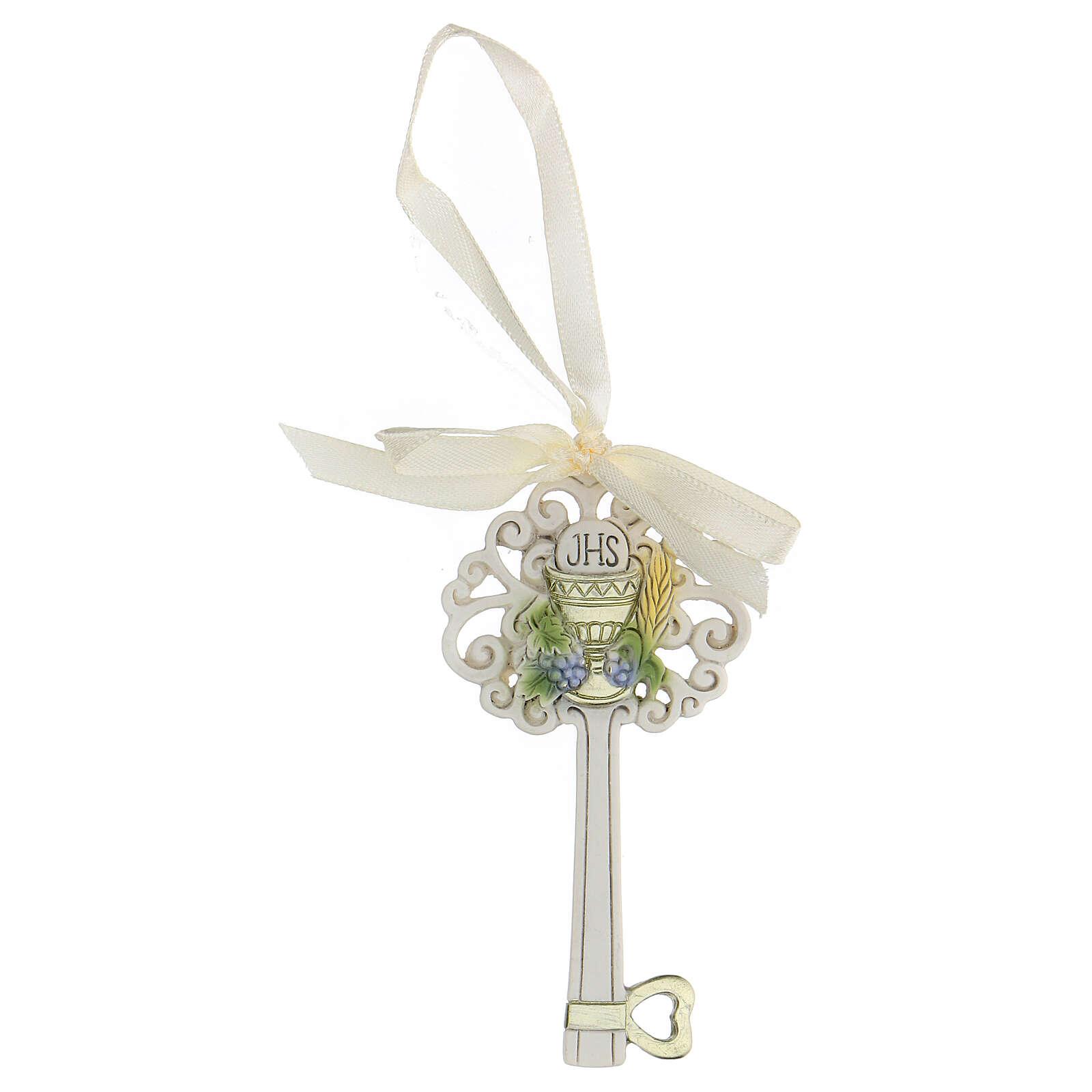 Gastgeschenk in Form eines Schlüssels zur Erstkommunion, 10 cm 3