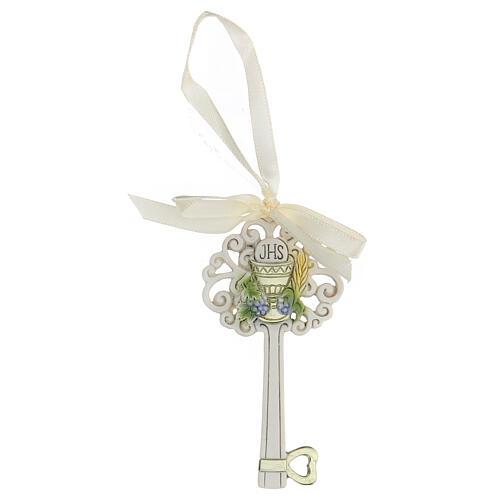 Gastgeschenk in Form eines Schlüssels zur Erstkommunion, 10 cm 1