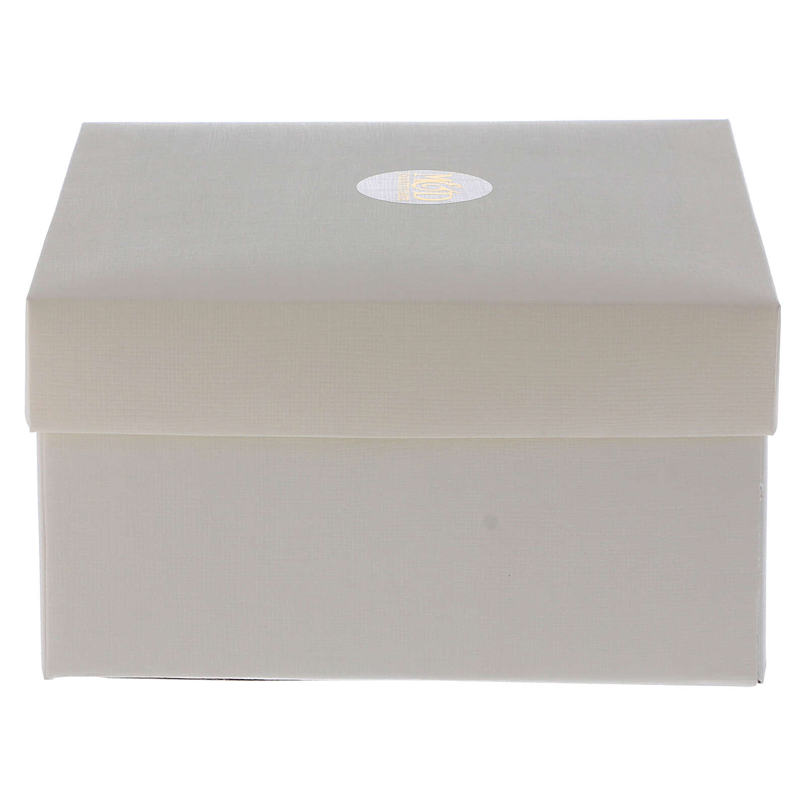 Portafoto nozze d'argento 17x17 cm fedi intrecciate 3