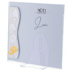 Portafoto Matrimonio lamina  argento 17x17 cm s2