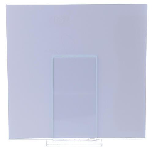 Portafoto Matrimonio lamina  argento 17x17 cm 3
