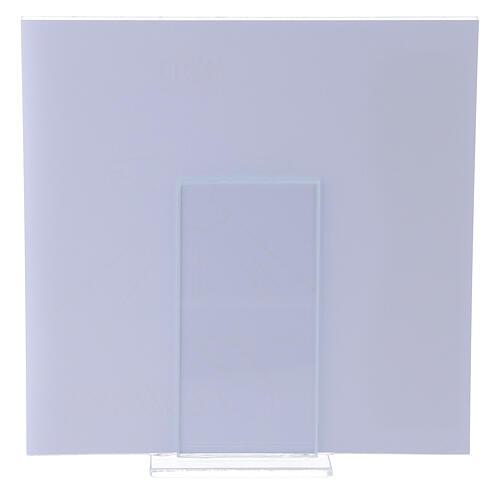 Portarretrato Sagrada Confirmación rosa lámina plata 17x17 cm 3