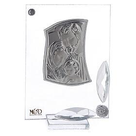 Cuadrito Sagrada Familia con cristales y bolitas s1