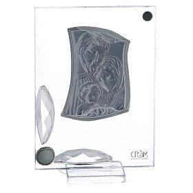 Cuadrito Sagrada Familia con cristales y bolitas s3