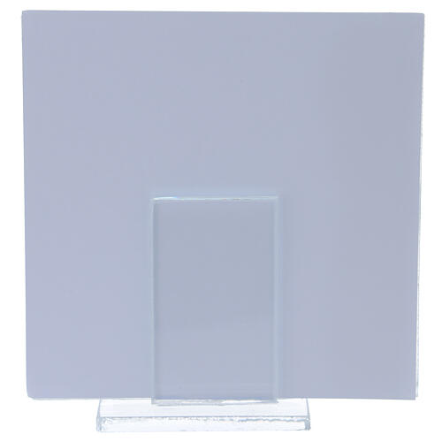 Picture frame 4x4 in Baptism light blue gift idea silver foil 3