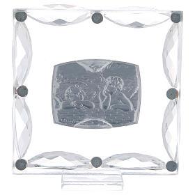 Cuadrito Bautismo angelitos cristales Swarovski s3