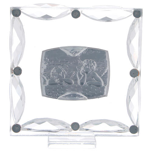 Cuadrito Bautismo angelitos cristales Swarovski 3
