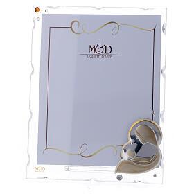 Porte-photo Vierge à l'Enfant argent bilaminé strass 15x10 cm s1