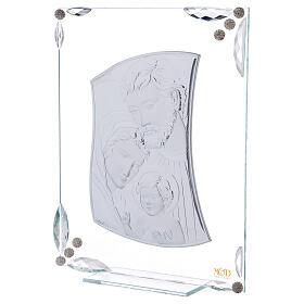 Cuadrito Sagrada Familia bilaminado y cristales 25x20 cm s2