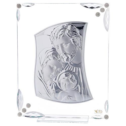 Cuadrito Sagrada Familia bilaminado y cristales 25x20 cm 1