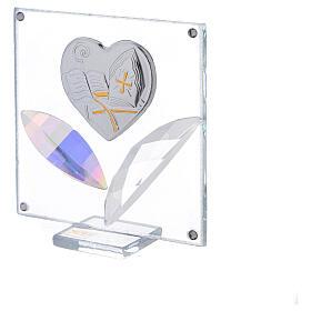 Cuadrito corazón Confirmación 7x7 cm s2