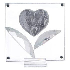 Quadretto cuore Cresima 7x7 cm s3