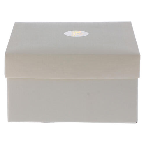 Quadretto Cresima cristalli bianchi 7x7 cm 4