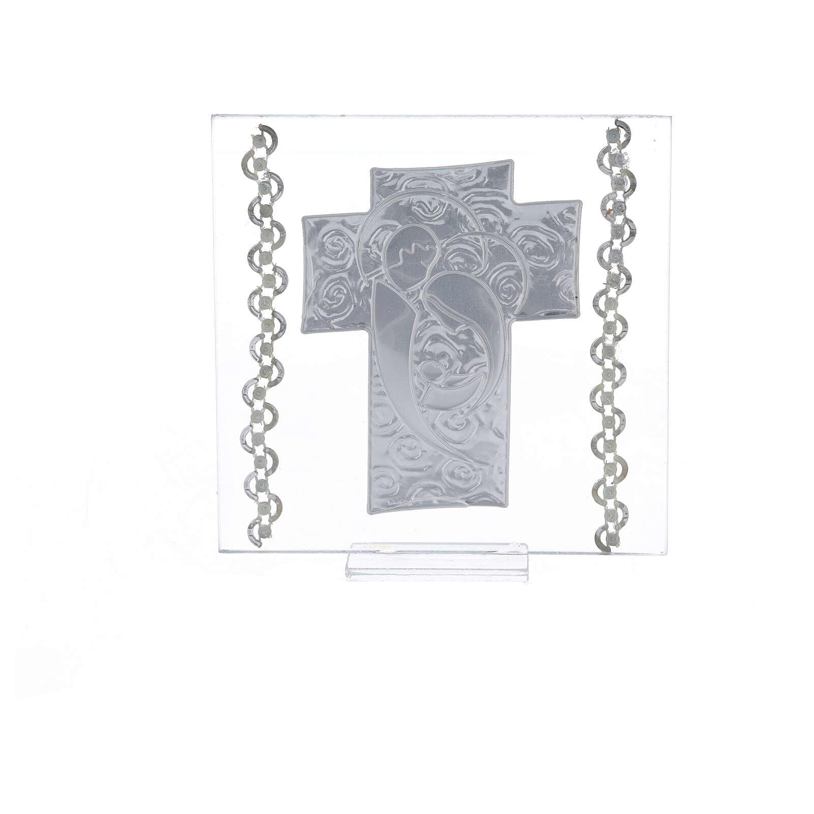 Cuadrito Corazón Sagrada Familia 12x12 cm 3